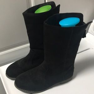 Girls black knee high boots size 3